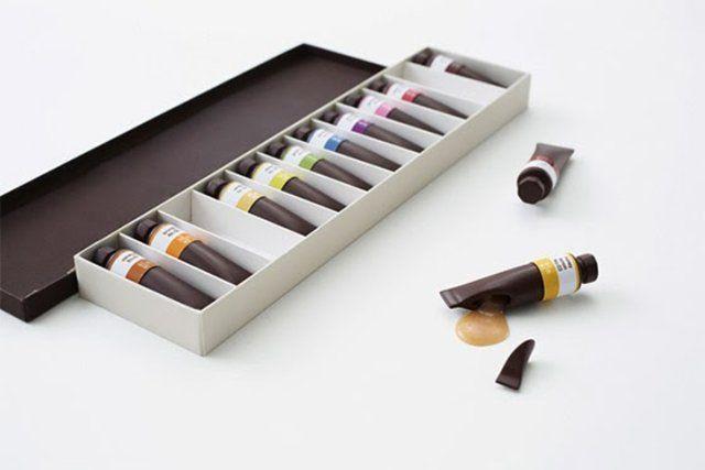 Tintas comestíveis de chocolate: escolha as suas e aproveite