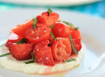 Salada de Morangos e Tomate