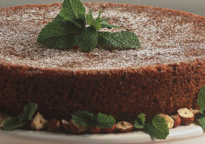 Bolo de chocolate com avelã
