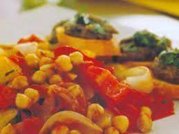 Verduras refogadas com patê de berinjela