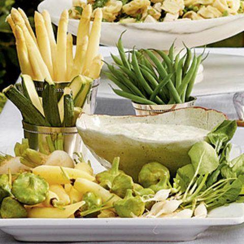 Molho deusa verde para salada