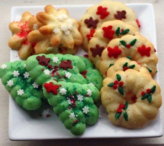 Biscoitinhos amanteigados de Natal