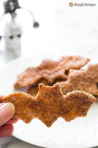 Biscoito de açúcar e canela feito de tortilhas