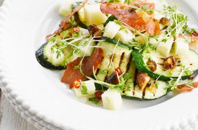 Salada de abobrinha e berinjela