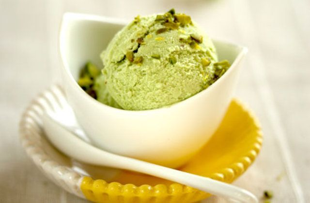 Creme gelado de pistache