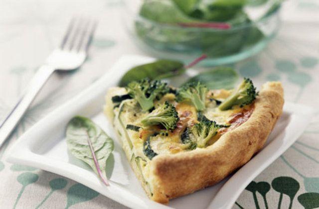 Quiche vegetariano de bócolis e abobrinha