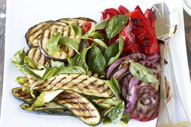 Prato de vegetais grelhados