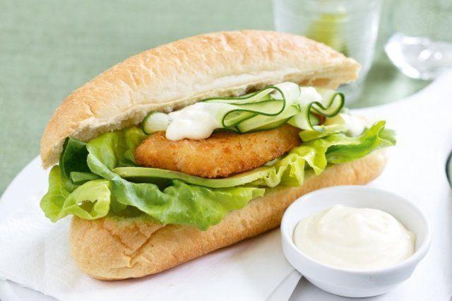 Lanche peixe burger