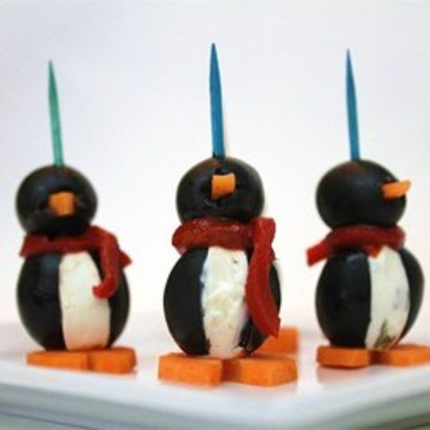 Pinguins de cream cheese