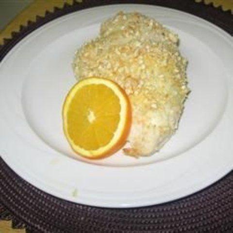 Frango empanado com castanha de caju