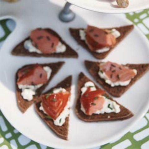 Aperitivos de salmão picante