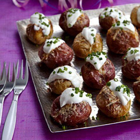 Mini batatas com Gruyère