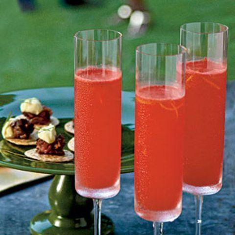 Bebida de melancia com vinho espumante