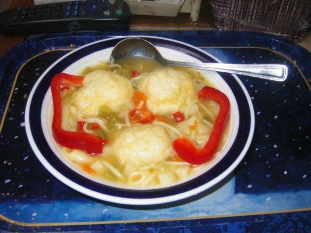 Bolinhos de farinha para sopa