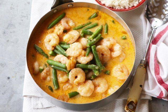 Falso bobó de camarão com curry