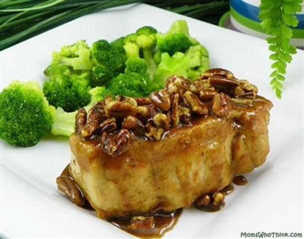 Carne de porco com nozes e mel