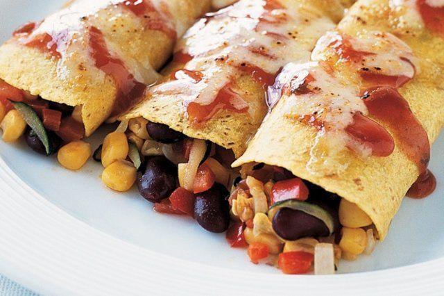 Tortilhas de milho e feijão