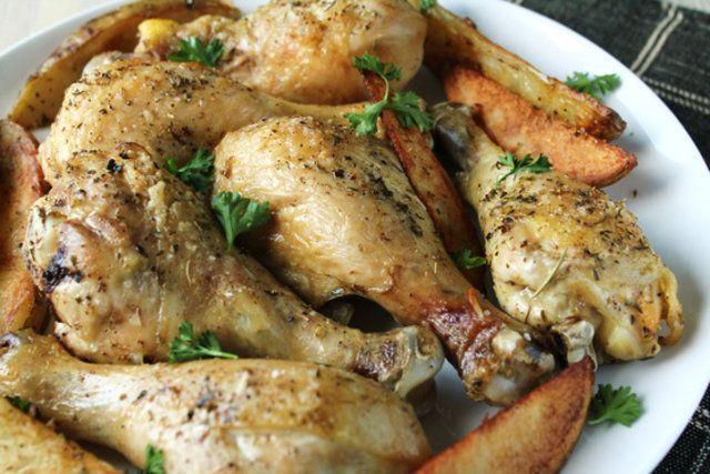 Coxas de frango simples assadas