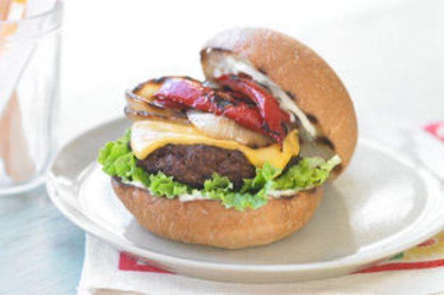 Hambúrguer com pimentão