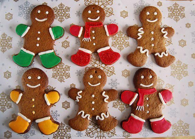 Biscoitos de gengibre natalino