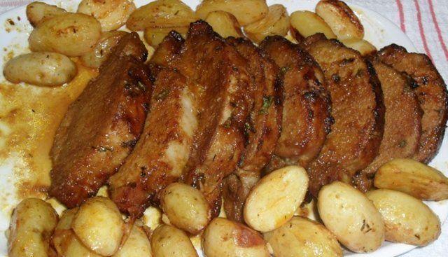 Lombo assado com batatas
