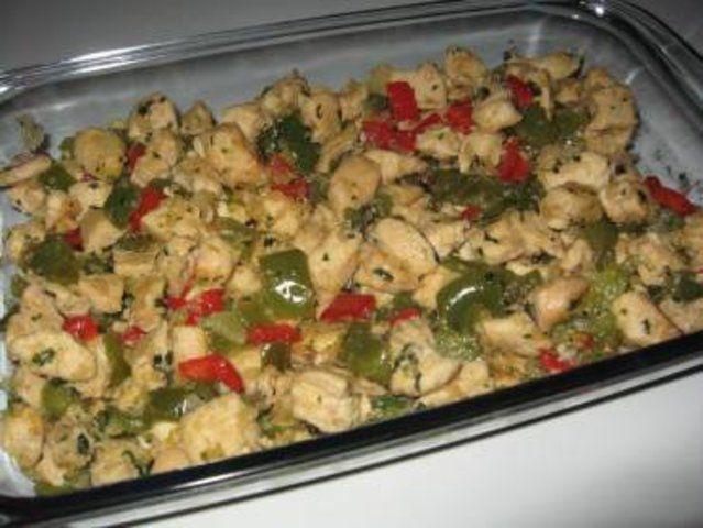 Picadinho de frango com pimentão