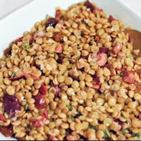 Salada de lentilha com azeitonas