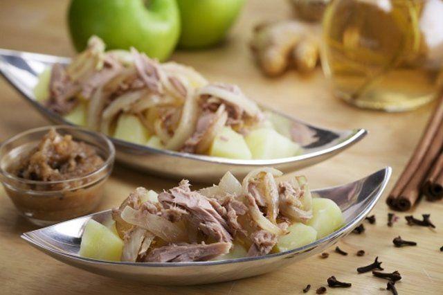 Batatas com Atum e Chutney
