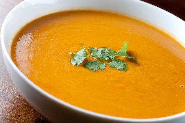 Sopa de Cenoura com Batata Doce