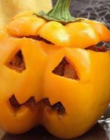 Abóbora falsa para Halloween