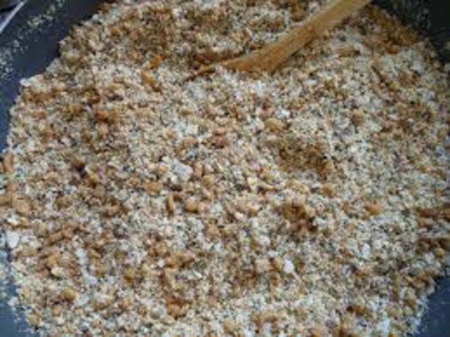 Farofa de soja crocante