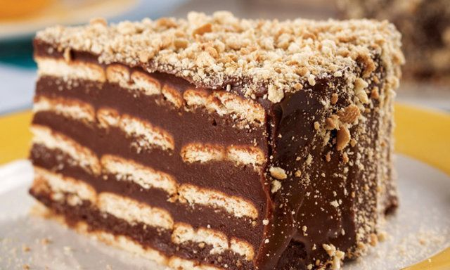 Torta gelada de biscoito maria