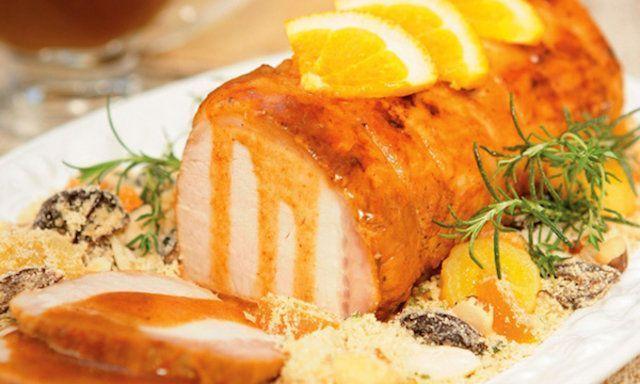 Lombo de porco com laranja