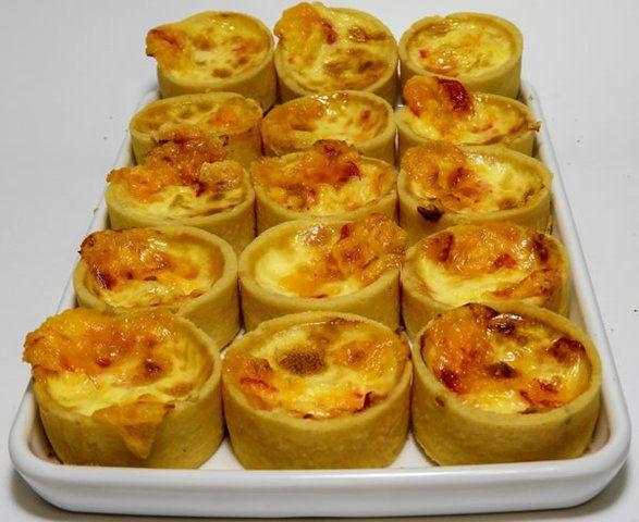 Mini quiche de queijo