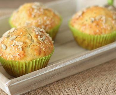 Muffins de Parmesão e Salsa