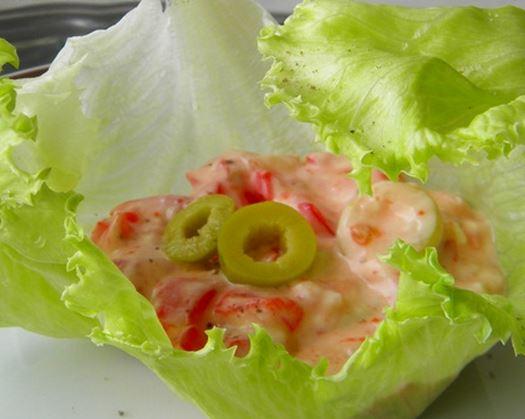 Salada na Cestinha de Alface