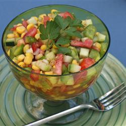 Receita de Salada mexicana de pepino