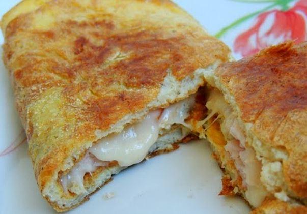Omelete Recheada de Peito de Peru