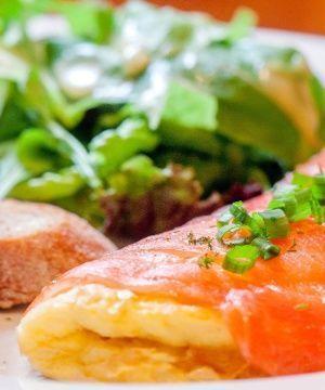 Omelete de Salmão