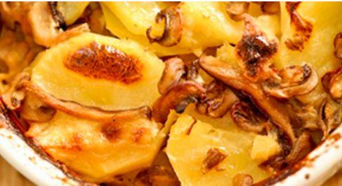 Gratinado de Cogumelos e Batatas