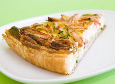 Tarte de Delicias do Mar e Alho Francês