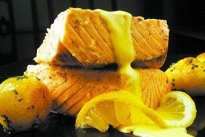 Salmão ao Molho de laranja