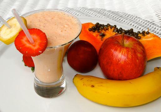 Vitamina de leite com fruta