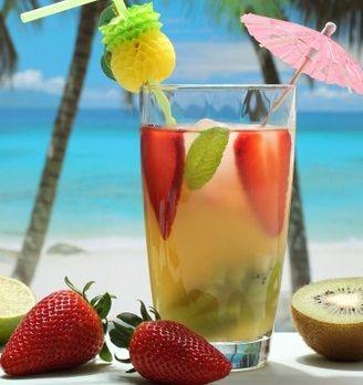 Água de Coco, Morango e Gengibre