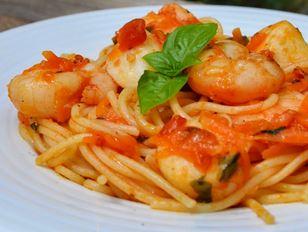 Esparguete Salteado com Camarões