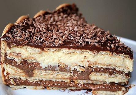 Resultado de imagem para torta gelada de biscoito champagne