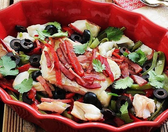 Salada de Bacalhau Fresco com Feijão Verde