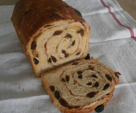 Pão de Passas e Canela