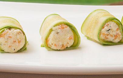 Sushi de ricota e Abobrinha