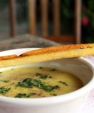 Sopa de Mandioquinha com Carne-Seca